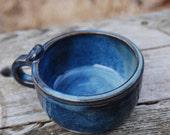 blue mug that could be a shaving mug