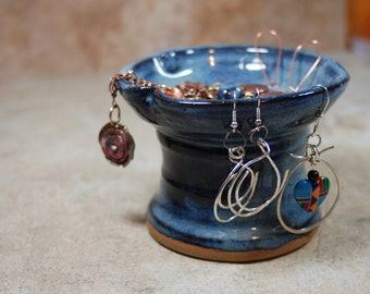 JEWELRY holder -  ring dish - earrings holder - necklaces - bracelets -ceramic - pottery- handmade- in stock..JR8