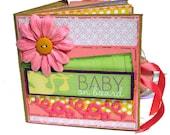 Scrapbook Baby on Board Girl Paper Bag Mini Album