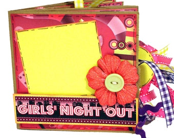 Girls Night Out Scrapbook - Premade Paper Bag Photo Album