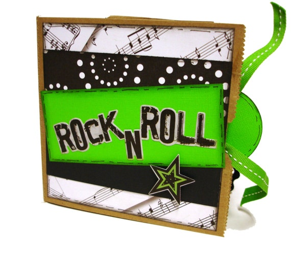 Sale rock star paper bag scrapbook for Rock star photos for sale