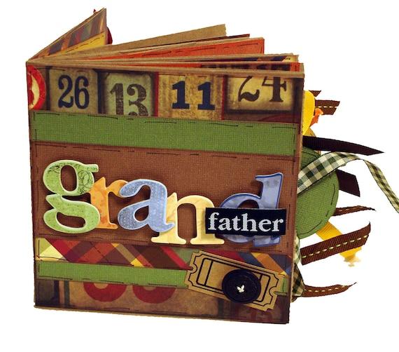 Grandfather Scrapbook - Paper Bag Album