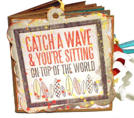 Catch a Wave Beach Vacation Scrapbook - Paper Bag Album