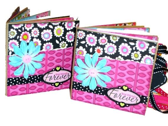 Set of 2 Best Friends Premade Scrapbooks - Paper Bag Albums