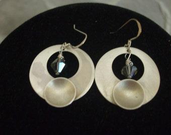 Fine Silver handcrafted earrings.