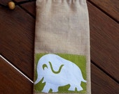 BrisStyle Handmade Ark Flood Appeal: Eco Sunglasses Pouch - Elephant