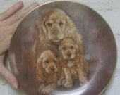 """Cocker Spaniel Mother and pups """"My Favorite Pets"""" plate Kern Collectibles"""