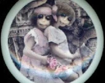 After Midnight ZOMBIE GIRLS Pretty in PINK Ceramic Drawer Knob