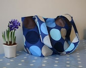 Tote or Shopper with Blue Discs