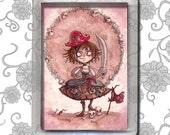 Strawberry Pirate Alicia - Magnet