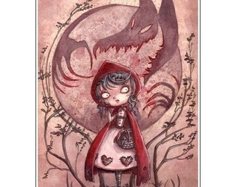 Little Red Riding Hood - 5x7 print