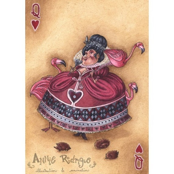 Her Majesty - Queen of Hearts - 5x7 print - Alice in Wonderland Series