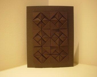 Simple Black Squares Origami Cards -  G
