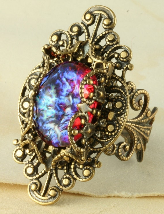 Fire Opal Ring Dragons Breath Ring Mexican By