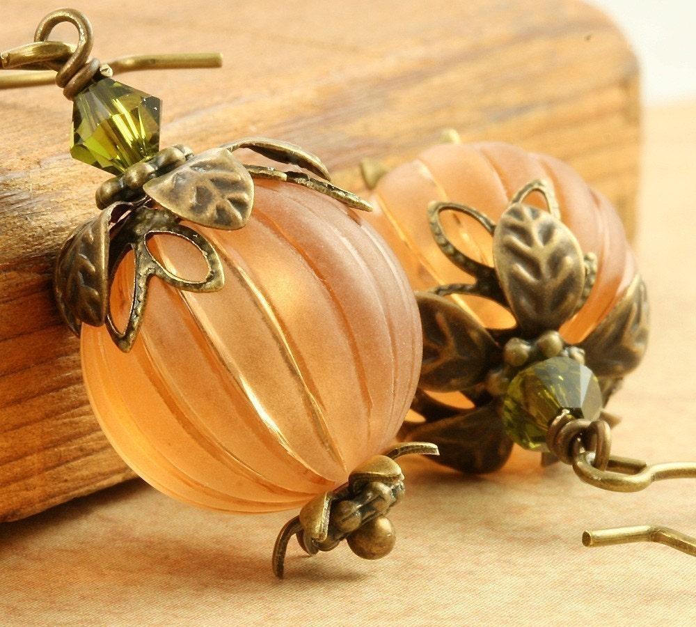 pumpkin earrings earrings orange pumpkin earrings