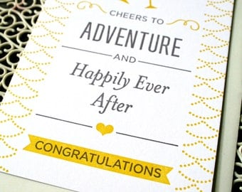 Cheers to Adventure A2 Letterpress Card