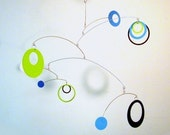 Baby Mobile, Crib Mobile, The Saturn in Razzle Dazzle Blue