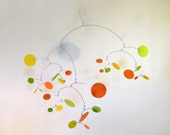 Modern Art Mobile - The Constellation, large, in Citrus