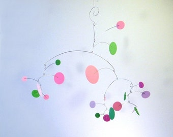 Baby Girl Mobile, Pink Baby Mobile, Crib Mobile, Pink Nursery Decor - Constellation Baby Mobile, medium, in Spring,