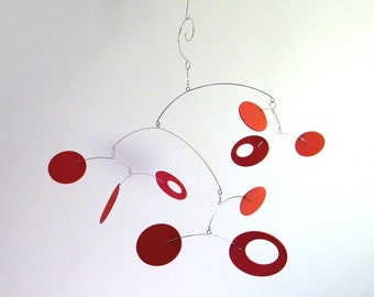 Modern Baby Mobile, MCM Decor, Modern Office Art -The Big Dipper II, in Deep Red