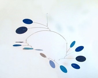 Baby Mobile, GIft for Kids, Crib Mobile, Baby Shower Gift, Office Art - The Nova Mobile, in Blue Heaven