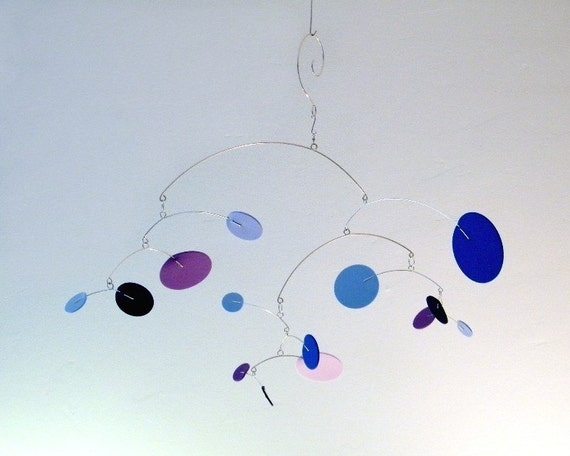Baby Crib Mobile, Modern Kids Room, Playroom Decor - The Constellation, small, in Thunder