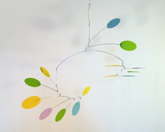 Baby Mobile, Crib Mobile, Modern Nursery Decor, Hanging Mobile, Calder Style Mobile - The Nova Mobile, in Happy
