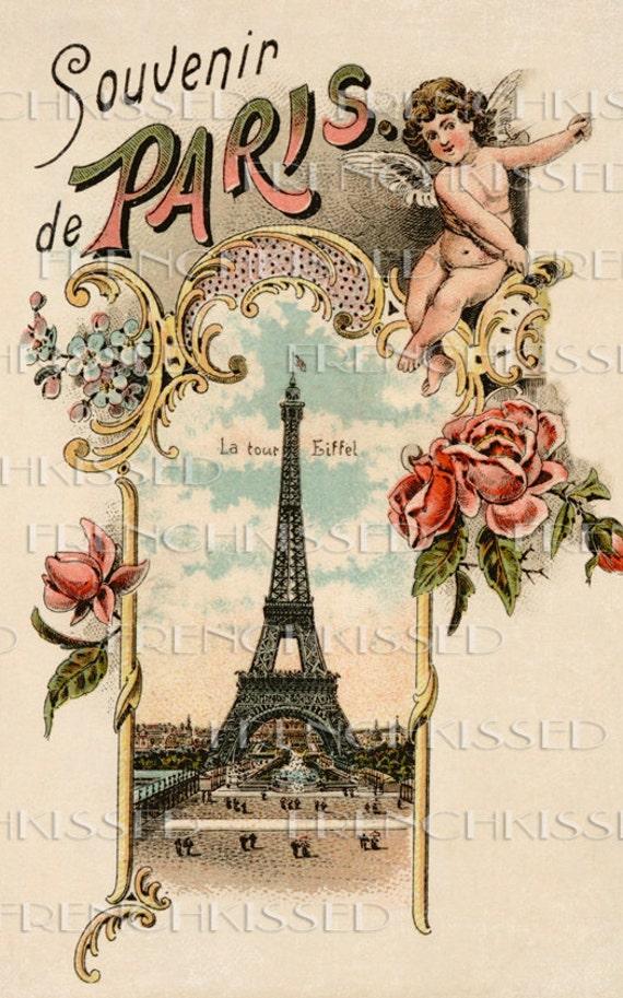Items Similar To Instant Download Antique Paris Postcard