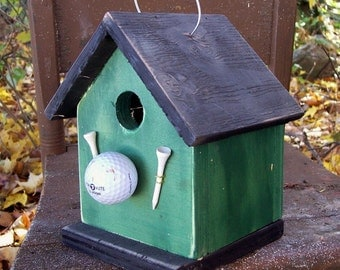Birdhouse green golf ball and tees