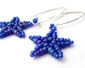 Large Starfish Earrings - Matte Cobalt Blue
