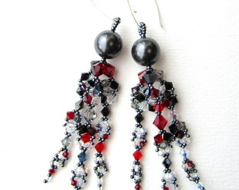 Beadweaving Tutorial No. 20 - Winter Sparkle Earrings