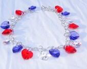 Patriot Hearts Swarovski Bracelet