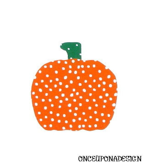 Pumpkin And  Stem...Fabric Iron On Applique(s)