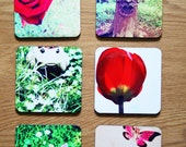 Photo coasters, set of 6