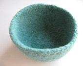 Seafoam Felted Bowl