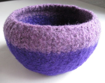 READY TO SHIP / Purple Wool Felted Bowl
