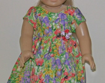 American Girl Doll18 inch clothes in poppies and iris