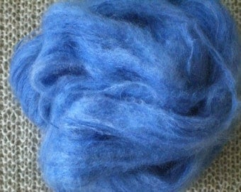 Brushed mohair yarn, periwinkle