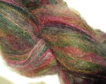 Winter Berries, brushed mohair-merino yarn