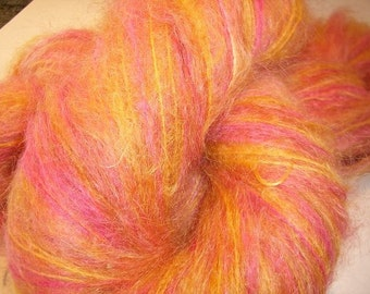 Island Sunset, brushed 2 ply mohair-merino blend