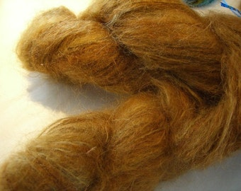 Mohair-merino yarn, brushed chestnut