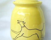 Small Greyhound Jar --Treats--Cookies--Memories--Urn