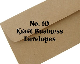 10 BROWN BAG KRAFT Envelopes