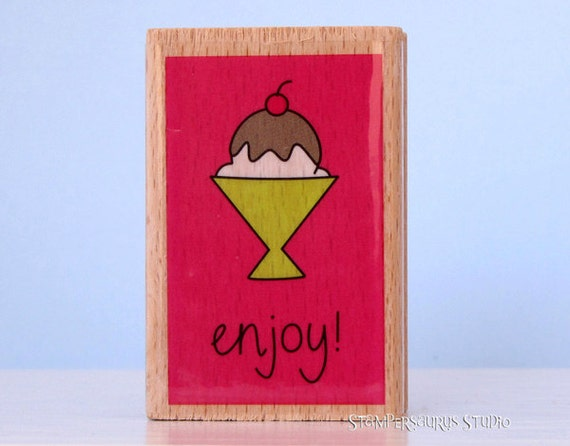 Ice Cream Rubber Stamp