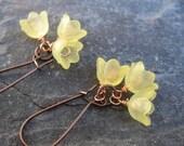 Yellow Flower earrings Spring earrings Nature jewelry Fashion jewelry