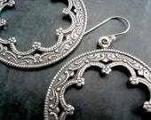 Silver Hoop earrings Moroccan earrings Boho silver Bohemian Jewelry