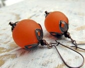 Tangerine orange earrings