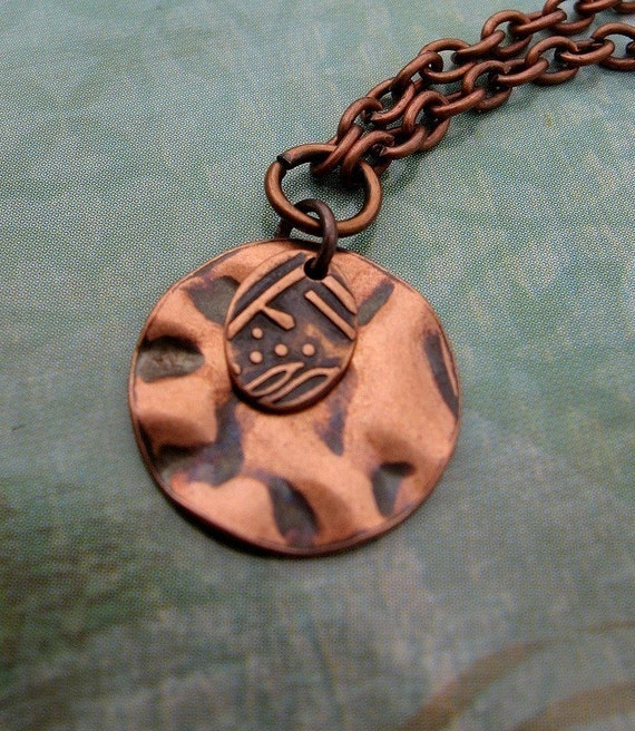 Perfect Layering copper necklace / copper jewelry simple jewelry
