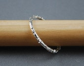 Diamond In The Rough - Sterling Silver Ring  Made To Order In Your Size