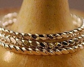 Twisted - Set of Three Sterling Silver Stack Rings - Made To Order